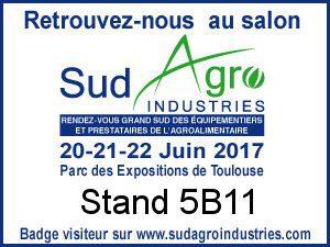 HYDROPROCESS présent au salon SUD AGRO INDUSTRIES à Toulouse